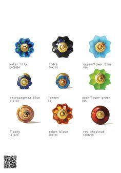 #Möbelknöpfe aus #keramik #knaeufe von #knaeufe.de #möbelgriffmanufaktur aktueller #Katalog2015 #keramikknöpfe #möbelknopf aus Glas #Möbelknopf #Amber Bloom #Knobs made by Glas #Glsknobs