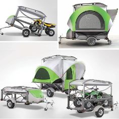 12 Futuristic Mobile Homes: Trailer Trash Turned Treasure Camping Survival, Tent Camping, Camping Hacks, Camping Gear, Outdoor Camping, Truck Camping, Outdoor Toys, Trailer Tent, Camper Trailers