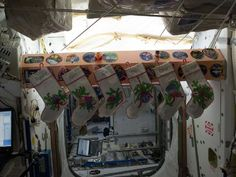 Stockings aboard the International Space Station.
