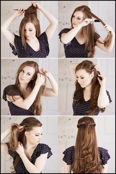 Awe Inspiring Beautiful Hairstyle For Long Hair And Follow Me On Pinterest Hairstyles For Women Draintrainus