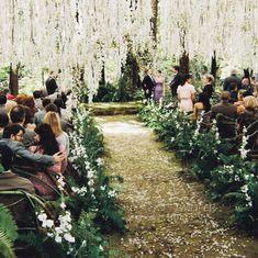 10 Insane Facts About Sean Parker's Enchanted Forest Wedding Edward E Bella, Bella And Edward Wedding, Bella Wedding, Dream Wedding, Ballroom Wedding Reception, Courtyard Wedding, Garden Wedding, Breaking Dawn Wedding, Sean Parker