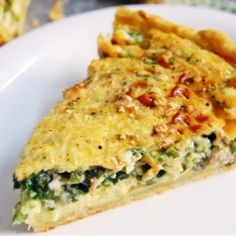 Food Collection: Spinach and Mushroom Quiche