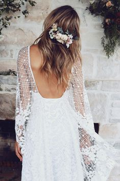 Lace Wedding Dresses: Add a Touch of Femininity to Your Wedding Day Look – Lady Dress Designs Boho Wedding Dress, Wedding Gowns, Lace Wedding, Wedding Bride, Wedding Ceremony, Types Of Lace, Affordable Wedding Dresses, Grace Loves Lace, Bohemian Bride