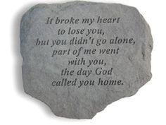 It broke my heart...