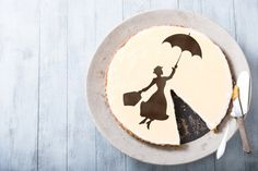 Mary Poppins Cake stencil decoration - Round stencil for cake decoration. Cakes design supplies - Serial number- R099.