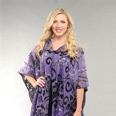 Scroll Flower 7 way convertible Scarf #purple #violet #7wayscarf #scarf #convertiblescarf #versatilescarf #jacketscarf #halterback #offshoulder #neckwrap #7wayscarf   7 Way Scarf by M/M Couture Www.7wayscarf.com