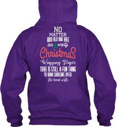 Christmas Fashioin Purple T-Shirt Back