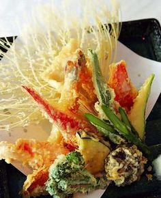Tempura - Vegetales y pescados fritos.