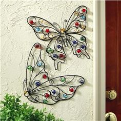 wrought iron butterflies