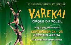 Varekai by Cirque Du Soleil at Germain Arena From September 24th- 28th