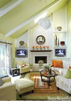 love the pretty shade of green and the burnt orange accents