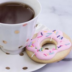 What goes together better than doughnuts & coffee? Doughnut cookies & tea!