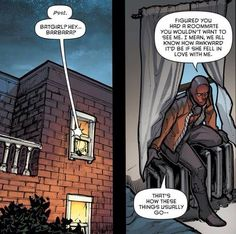 Wow what's Jason Todd doing sneaking into Batgirl's(Barbara Gordon)room (Batman Eternal #28)