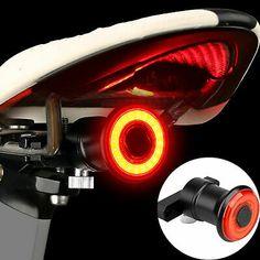 XLite100 Waterproof Bicycle Smart Brake Light Sense COB LED USB Tail Rear Lamp