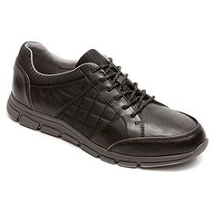 Rockport Womens RocSports Lite ES Quilted Lace UpBlack TextileLeatherUS 55 * Click affiliate link Amazon.com on image for more details.