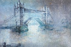 London Tower (watercolor on paper) by Antonio Masi. ~ch #VisualArt #Painting