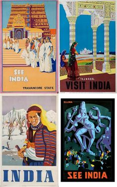 Sound Horn Please: India Inspired Pick of the Month: Vintage Indian Travel Posters