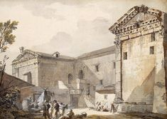Temple of Augustus and Diana in Pola - Charles-Louis Clerisseau