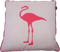 In The Mood Melange Flamingo - Sierkussen - Koraal - 50x50 cm