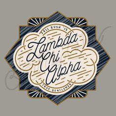 Lambda Chi Alpha | Lambda Chi | Rush Shirt Ideas | True Gentleman | Quatrefoil Tee Shirt Design | South by Sea | Greek Tee Shirts | Greek Tank Tops | Custom Apparel Design | Custom Greek Apparel | Fraternity Tee Shirts | Fraternity Tanks | Fraternity Shirt Designs