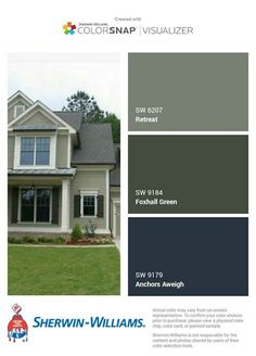 34 Ideas exterior paint colora for house green olive white trim Green Exterior Paints, Green Siding, Exterior Paint Colors For House, Paint Colors For Home, Grey Exterior, Outdoor House Colors, Outside House Paint Colors, Green House Paint, Exterior Stairs