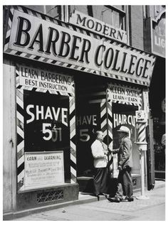 Barber College c. This not the barber college that I want to attend but I would love to go to barber school. Moustaches, Tattoo Studio, Barbershop Design, Barbershop Ideas, Barber School, Shaved Hair Cuts, Learn Earn, Le Male, Barber Chair