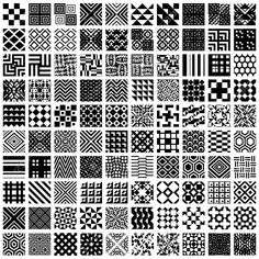 100 geometric seamless patterns set black and white vector backgrounds collection standard image Doodle Art Designs, Doodle Patterns, Zentangle Patterns, Geometric Pattern Design, Mandala Design, Pattern Art, Doodle Art Drawing, Zentangle Drawings, Zentangles