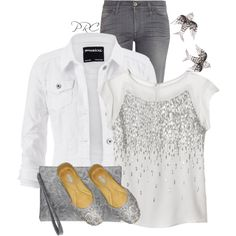 A fashion look from March 2015 featuring Rebecca Taylor tops, 7 For All Mankind jeans and Nina bags. Browse and shop related looks.