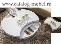 Круглый журнальный столик-трансформер Sferaс вращающейся столешницей