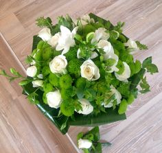 Svatební kytice santiny, růže