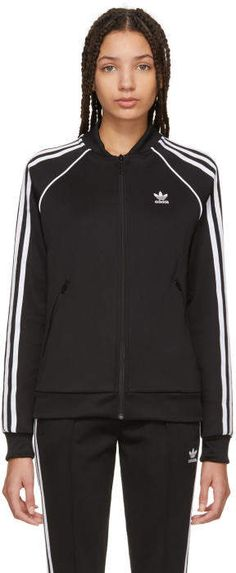c7b57bdf9498 adidas Originals Black SST Track Jacket