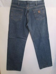 #195-Carhartt Relaxed Fit Work Pant Jean Size- 38X30 #Carhartt #Relaxed