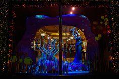 Harrods window display - ARIEL BY MARCHESA (The little mermaid) #harrods #disney
