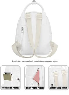 Amazon.com: HotStyle 8811s Extra Mini Backpack Purse Cute for Women, White: Clothing Cute Mini Backpacks, Mini Backpack Purse, Summer Vacation Outfits, White Clothing, Teen, Purses, Amazon, Girls, Travel