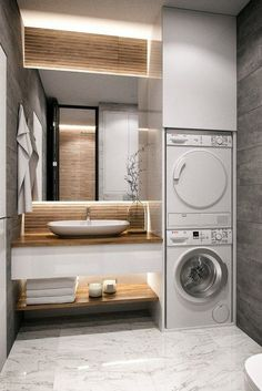 30 modern bathroom design ideas plus tips 62 – diy bathroom ideas Bathroom Organization Diy, Laundry In Bathroom, Bathroom Interior Design, Modern Bathroom Design, Dyi Bathroom Remodel, Bathroom Renovations, Big Bathroom Decor, Luxury Bathroom, Bathrooms Remodel