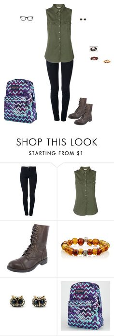 """""""Day 67 @ College"""" by maddieshu ❤ liked on Polyvore featuring STELLA McCARTNEY, Vero Moda, Devon Page McCleary, JanSport and Ray-Ban"""