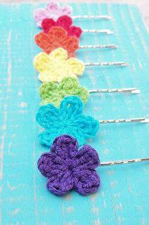 Free crochet - flower appliqué