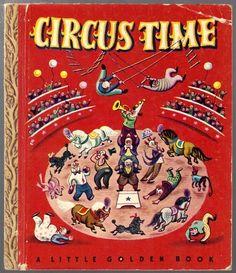 Circus Time Vintage 1940's Children's Little Golden Book 2169   eBay