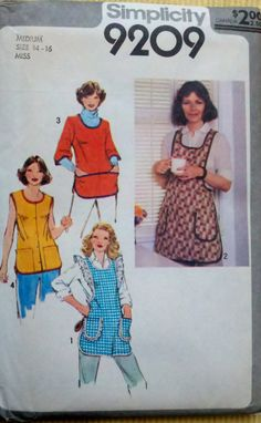 I remember my mom wearing an apron like this!