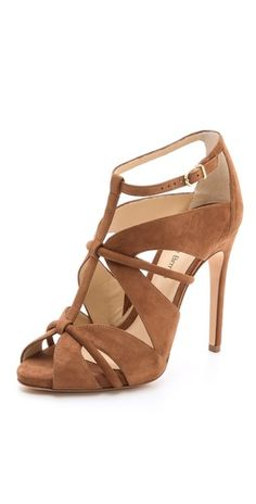 a live-in classic strappy camel heel { alexandre birman natie sandal }