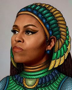 Chicago Artist Faces Backlash For Plagiarizing Black Artist's Portrait of Michelle Obama Art Black Love, Black Girl Art, My Black Is Beautiful, Black Girls Rock, Black Girl Magic, Beautiful Women, Amazing Women, Beautiful People, Michelle Obama