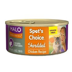 Spot's Choice for Cats Grain-free Formula, Shredded Chicken Recipe 5.5 oz By Halo Purely For Pets * Details can be found by clicking on the image. #CatLovers