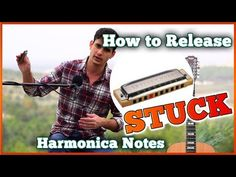 Yep, if you play harmonica, you get this kind of trouble at least occasionally. Here's how you deal with it, both without opening the harmonica (hopefully th. Harmonica Lessons, Easy Video, Music Guitar, Notes, Learning, Youtube, Ideas, Report Cards, Studying