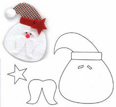 DIY Santa Claus Sewing Patterns and Ideas Santa Crafts, Christmas Projects, Felt Crafts, Holiday Crafts, Christmas Sewing, Kids Christmas, Christmas Snowman, Father Christmas, Primitive Christmas