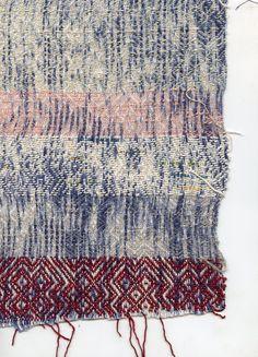 Gennie Stafford: gennie catastrophe ::: point twill ::: cotton | resist-dyed warp ::: Raleigh-Durham, North Carolina