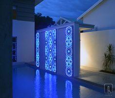 Aslyiam Laser Cut Light Feature | outdoor design | www.watergardenwarehouse.com.au | © Q Design