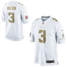 Nike Russell Wilson Seattle Seahawks Salute to Service Game Jersey - White