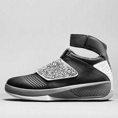 The Air Jordan 20 Retro in Black/White releases in Europe this weekend. U.S. release date not yet confirmed. ___