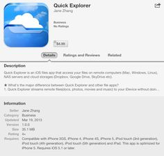 """Quick Explorer"" is an iOS file app that can access your files on remote computers"