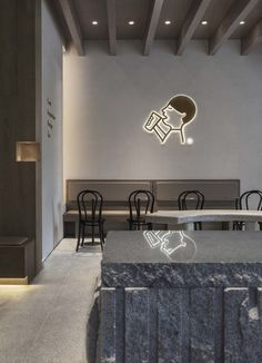 Image 1 of 27 from gallery of HEYTEA Nanning Tea Store / BloomDesign. Photograph by Xiaocong Nie Coffee Shop Interior Design, Coffee Shop Design, Apartment Interior Design, Apartment Layout, Apartment Living, Small Studio Apartments, Modern Apartments, Wall Seating, Minimalist Apartment